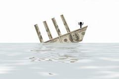 crollo finanziario Fotografia Stock Libera da Diritti