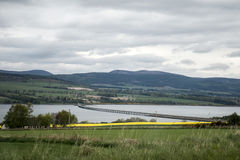Cromarty Bridge near Inverness Scotland Dingwall. Coast Stock Image