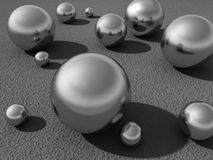 Crome balls Royalty Free Stock Image