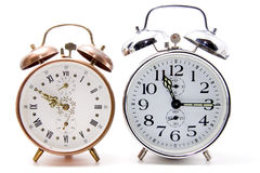 Crome and cooper alarm clock Royalty Free Stock Photos