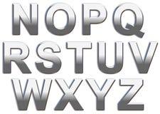 Crome letras Fotografia de Stock Royalty Free