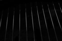 Crome Stainless Steel Iron Grill Black And White Background Stock Image