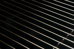 Crome Stainless Steel Iron Grill Black And White Background Royalty Free Stock Image