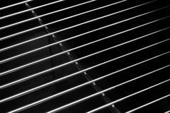 Crome Stainless Steel Iron Grill Black And White Background Stock Photo
