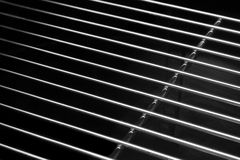 Crome Stainless Steel Iron Grill Black And White Background Royalty Free Stock Photography