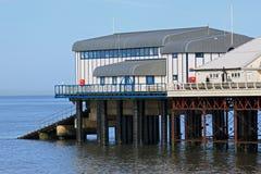 Cromer码头和救生艇驻地,诺福克 免版税库存图片