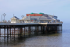 Cromer码头和救生艇驻地,诺福克 免版税图库摄影