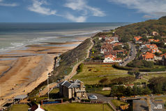 Cromer from Above. The seaside resort of Cromer in Norfolk, England, photographed from the top of the church tower Stock Photo