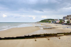 Cromer Beach from the pier Royalty Free Stock Photo