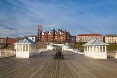 Cromer beach and Victorian pier in Norfolk royalty free stock images