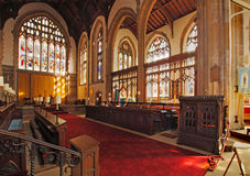 Cromer Church Interior. Cromer Parish church is very impressive with a magnificent interior and the highest tower in Norfolk in England Royalty Free Stock Images