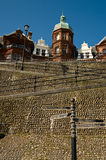 Cromer Hotel. A hotel in Cromer sits at the top of the cliff stock photo