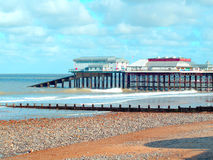 Cromer lifeboat station and pier, Norfolk. Royalty Free Stock Images