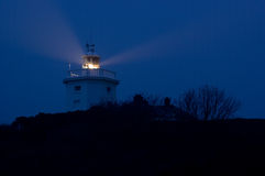 Cromer lighthouse at night Royalty Free Stock Images