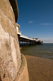 Cromer pier. A view of Cromer Pier from the sea wall stock photos