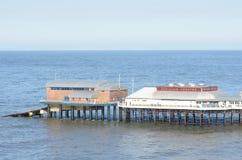 Cromer Pier Norfolk stock afbeeldingen