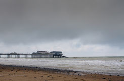 Cromer pier at sunrise on english coast Royalty Free Stock Images
