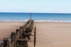 Cromer strand fotografering för bildbyråer