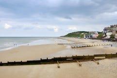 Cromer Strand vom Pier Lizenzfreies Stockfoto
