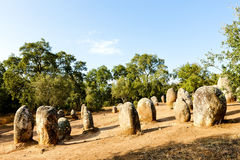 Cromlech of Almendres Stock Image