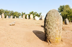 Cromlech of Almendres Stock Images