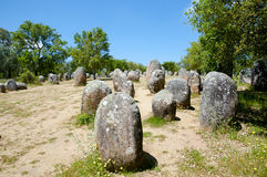Cromlech of the Almendres - Evora - Portugal Stock Photography