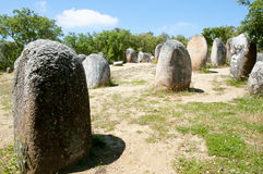 Cromlech of the Almendres - Evora - Portugal Royalty Free Stock Photos