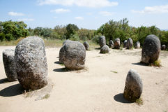 Cromlech of the Almendres - Evora - Portugal Royalty Free Stock Images