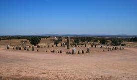 Cromlech av Monsaraz, Portugal Arkivbilder