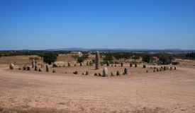 Cromlech Monsaraz, Portugalia Obrazy Stock