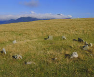Cromlech in the pyrenees mountains Stock Images