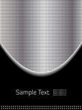 Cromo abstracto y fondo negro ilustración del vector