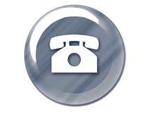 Cromo del botón del teléfono Foto de archivo libre de regalías