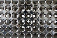 Cromo perfurado fotografia de stock