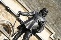 cromwell安置伦敦脚踏铁槌议会 库存图片