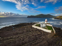Cromwell latarnia morska Valentia wyspa Irlandia obrazy stock