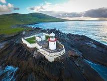 Cromwell latarnia morska Valentia wyspa Irlandia obraz stock