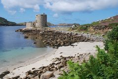 Cromwell's Castle. On Tresco island, Isles of Scilly,UK Royalty Free Stock Photography