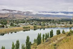 Cromwell Town and Lake Dunstan. South Island , New Zealand Stock Images