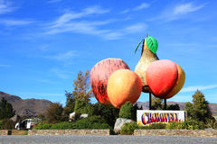 Cromwell town in New Zealand Stock Photography
