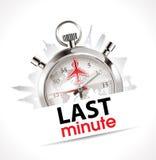 Cronómetro - de última hora - viaje y turismo stock de ilustración