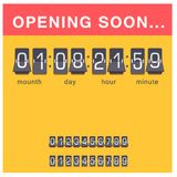 Cronómetro de la alarma del diseño del minuto de la muestra del tiempo del ejemplo de la hora del símbolo de la cuenta descendien stock de ilustración