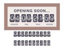 Cronómetro de la alarma del diseño del minuto de la muestra del tiempo del ejemplo de la hora del símbolo de la cuenta descendien Fotografía de archivo libre de regalías