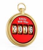 Cronómetro 2016 del Año Nuevo Foto de archivo