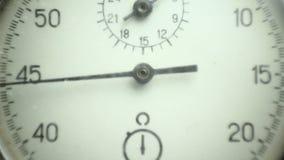 Cronómetro del vintage en el blanco 3 metrajes