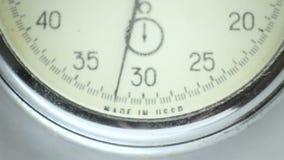 Cronómetro del vintage en el blanco 4 almacen de video