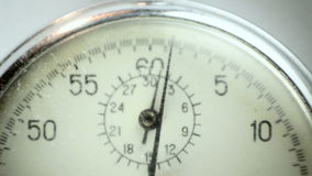 Cronómetro del vintage en el blanco 5 almacen de video