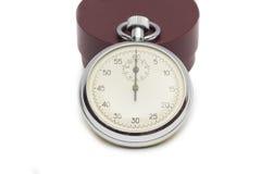 Cronómetro en el fondo blanco Fotos de archivo libres de regalías