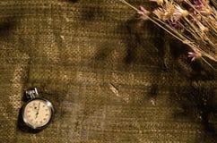Cronómetro en el saco foto de archivo
