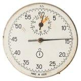 Cronómetro viejo de la cara Fotos de archivo
